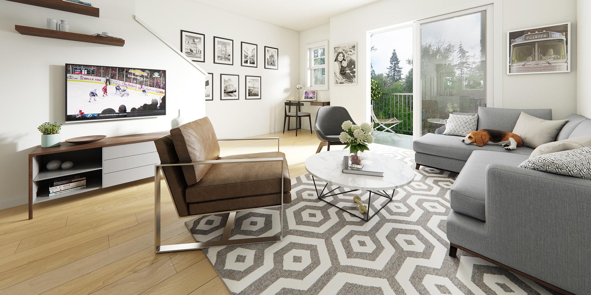 Townhouse Project - Interior - Livingroom